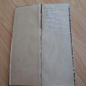 Блокнот с описью книг из личной библиотеки М.Джалиля